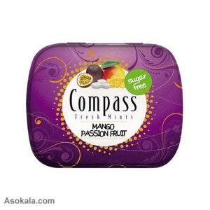 قرص نعناع انبه پشن فروت compass mango passion fruit تعداد 50 عدد